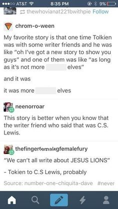 But Tolkien didn't think Narnia would sell so which is worse? Tumblr Funny, Funny Memes, Hilarious, Jenifer Lawrence, J. R. R. Tolkien, Book Fandoms, Looks Cool, Middle Earth, Lord Of The Rings