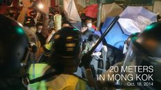 The Umbrella Movement in Hong Kong continues...  In the second night of violence in Mong Kok, protesters are changing defensive tactics and have new DIY protective gear.   Video on the previous night's clashes: https://vimeo.com/109305792