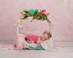 Newborn Photo Prop: Christmas Box with Sash and von KingsCloth