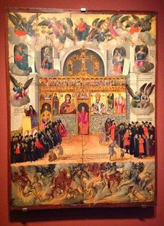 A completely unknown Icon ! ''Preaching in church,'' of George Klontzas, late… Byzantine Icons, Byzantine Art, Religious Icons, Religious Art, Fall Of Constantinople, Religious Paintings, Orthodox Christianity, Orthodox Icons, Christian Art
