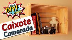 Como fazer caixote de feira de madeira para decorar a casa - DIY