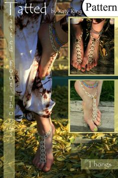 Tatted Foot Thong Pattern (Deluxe Ed.) Step-by-step how-to photos included!