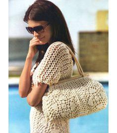Crochet dress PATTERN crochet tunic pattern crochet bag by FavoritePATTERNs | Etsy