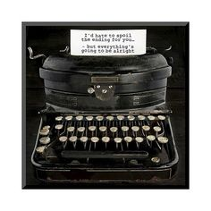 Art.com Old Antique Typewriter With Text by Anna-Mari West ($67) ❤ liked on Polyvore featuring home, home decor, wall art, black, black home decor, typography wall art, word wall art, calligraphy wall art and antique wall art