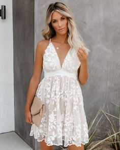 Yours To Keep Floral Embroidered Dress Hoco Dresses, Dance Dresses, Cute Dresses, Bridal Dresses, Casual Dresses, Summer Dresses, Formal Dresses, Short White Dresses, Casual Homecoming Dresses