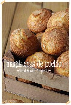 Magdalenas de pueblo {by Paula, Con las Zarpas en la Masa}