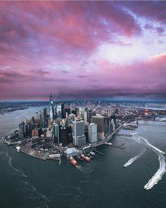 New York City, Lower Manhattan Manhattan New York, Lower Manhattan, Manhattan Skyline, Ville New York, Night Skyline, Dream City, New York Travel, Canada, Places To See