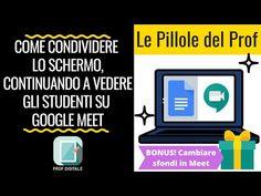 Condividere lo schermo, continuando a vedere gli Studenti su GOOGLE MEET [Tutorial per Insegnanti] - YouTube Design Social, Google Classroom, Good To Know, Big Data, Dads, Tutorial, Coding, Meet, Education
