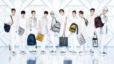 Tao, D.O, Suho, Lay, Chen, Kai, Xiumin, Baekhyun, Sehun, and Chanyeol