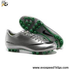 Cheap Discount Nike Mercurial Vapor IX AG Silver Green Black Boots Shop