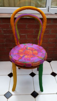How to Wet Felt over a Bentwood Chair/Seamless Upholstery
