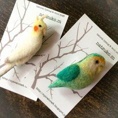 Needle felted birds by natsuko murase