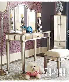 my Hayworth Vanity set I purchased from Pier 1 Imports