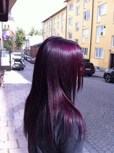 Dyed hair, purple hair (plum divine mixed with a bit of violet),You can find Violet hair and more on our website.Dyed hair, purple hair (plum divine mixed with a bit of v. Dyed Hair Purple, Hair Color Purple, Hair Dye Colors, Dye My Hair, Cool Hair Color, New Hair, Dark Violet Hair, Dark Plum Hair, Violet Hair Colors
