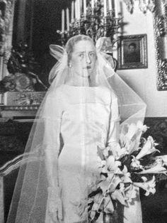 THE BRIDE  Maria del Pilar Azlor de Aragon y Guillamas, Duchess of Luna, later Duchess of Villahermosa (1906-1996)