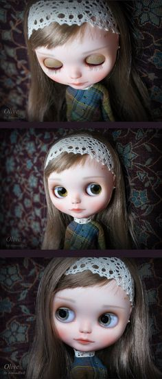Reserved for Eve Custom Blythe doll,  ooak  handpainted art doll by AlmondDoll, pament plan part 2 of 2