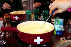 Fondue at Vieux Carouge, Geneva, Switzerland.