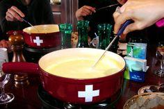Fondue at Vieux Carouge, Geneva, Switzerland.