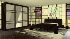 Oriental Inspiration Bedroom Set by DalaiLama at The Sims Lover via Sims 4 Updates