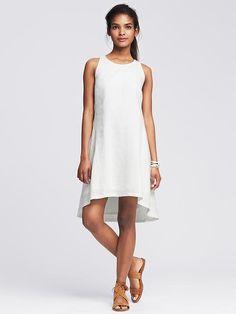 Linen Trapeze Dress Product Image