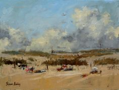 """Playing in the sand dunes, 12 x 16"""" Oil"""