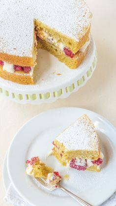 A Classic British Victoria Sponge Cake. It's so easy and is made all in ONE bowl! | Gluten Free and Dairy Free | teabiscuit.org