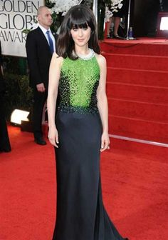 Zooey Deschanel 2012 Golden Globes