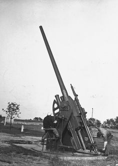 This is a picture of the United States Shooting a Rocket Launcher in 1937