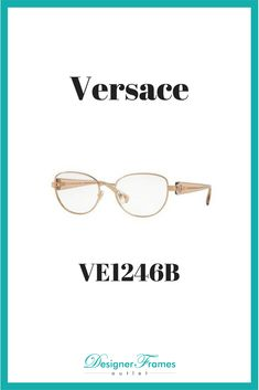 b8f1f11d77a6 Versace VE1246B A great pair of frames available at Designer Frames Outlet. Versace  Eyeglasses