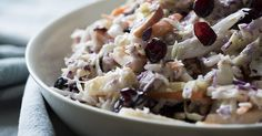I brought this to two separate get-togethers this weekend.people scarf it… Fall Recipes, Great Recipes, Favorite Recipes, Apple Recipes, Vegan Coleslaw, Coleslaw Salad, Cranberry Almond, Cranberry Salad, Side Dish Recipes