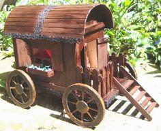 Carroça cigana de palito de picolé