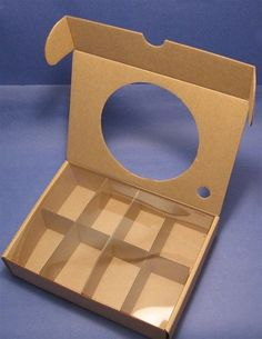 $12.40 RSGB- Kraft Soap Gift Box with Round Acetate Window- Removable Partitions - 20 pack