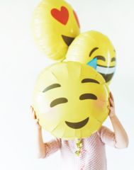 Instagram Themed Party Prop Emoji Face Balloon Heart Eyes Emoji
