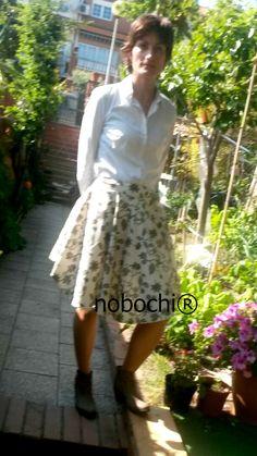Look NOBOCHI® for Sunshine Sunday. Cotton skirt, falda de algodón by NOBOCHI® #ootd #fashion #ateliernobochi #fashion #spring