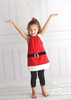 Pin to Win: Christmas Santa Claus Pillow Case Dresses for Girls Dress up and Christmas Gifts #princesschristmas #pintowin