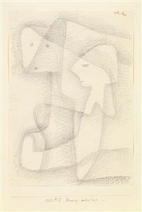 """Streng behütet"" - drawing by Paul Klee (1934)"