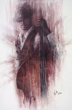 Remi LaBarre: Jazz Art, Portrait Art, Art World, Art Pictures, Creative Art, Art Sketches, Painting & Drawing, Watercolor Art, Art Gallery