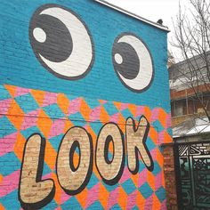 Made you look! Love this mural outside @burgersatn8 by @jealous_london @jesswilson1984 #abmmurals #londonstreetart #lettering #murals