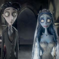 Corpse Bride is a romantic comedy musical by Tim Burton and Danny Elfman, and a Spiritual Successor to Henry Selick's The Nightmare Before Christmas (of … Estilo Tim Burton, Art Tim Burton, Tim Burton Stil, Tim Burton Kunst, Film Tim Burton, Tim Burton Characters, Cartoon Characters, Emily Corpse Bride, Corpse Bride Art