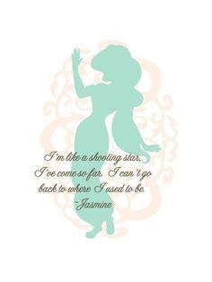 Disney princess quotes walt disney princess jasmine print by tinytomatoinc Disney Dream, Disney Love, Disney Magic, Disney Art, Disney Quotes About Love, Disney Songs, Disney Stuff, Princess Jasmine Quotes, Disney Princess Quotes
