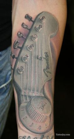 Fender Guitar Tattoo