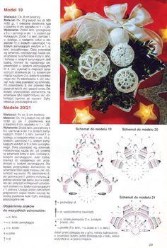 Zdjęcie: Bombki 1, (1) Crochet Christmas Ornaments, Holiday Crochet, Christmas Bells, Christmas Baubles, Christmas Cross, Xmas, Crochet Snowflake Pattern, Crochet Snowflakes, Ball Decorations