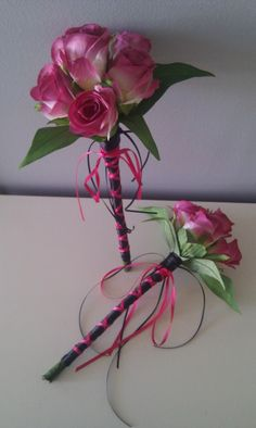 Onholes And Corsages Plus Flower Wands Baskets Just Fake It Bouquets
