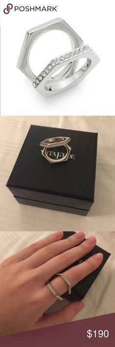 Vita Fede crystal ring 6 Worn once,minor scratches,comes with original box,❌NO TRADE‼️ vita fede Jewelry Rings