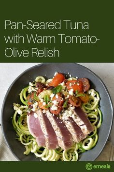 Keto Low Carb Tuna with Zucchini Noodles