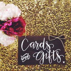Gift Table sign for rustic wedding, baby, or bridal shower!