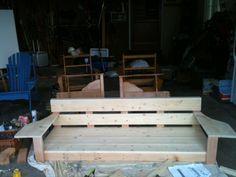 DIY porch swing= LOVE this!