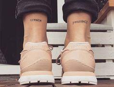 ankle back quote tattoo ayak bileği arkası yazı dövmesi