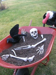 And my wheel barrow is rusty, so it'll work even better! Pair this with some dirt and rusty shovels, and the graveyard will be extra awesome!