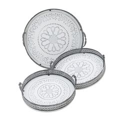Decorative Tray Set Of 3 Pieces - Trays - Placemats - DECORATIONS - inart